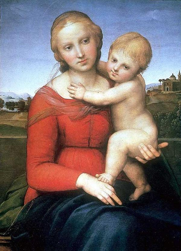 mystical madonna in the pinks a raphael Well, that was thought to be the fate of the madonna of the pinks, a painting by the renaissance master raffaello sanzio da urbino, better known as raphael for years, one painting in particular was reputed to be raphael's madonna of the pinks.